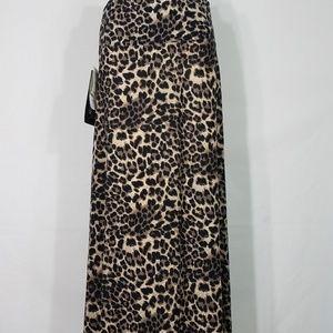 NWT animal print tummy control maxi skirt ladies M